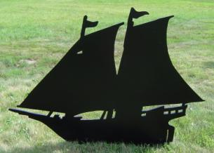 Yard Shadow: Sailboat